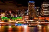 Brisbane City Lights viewd from Southbank