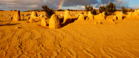 110618 Nambung National Park Pinnacles Rainbow 1p