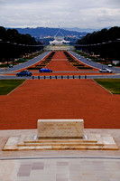 Canberra view towards Palliment House from War Memorial