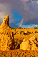 110618 Nambung National Park Pinnacles Rainbow 3